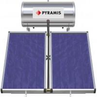 Ηλιακός Θερμοσίφωνας PYRAMIS 160LT ΕΠΙΛ. ΣΥΛΛΕΚΤΗ 2Χ1,5M2 Διπλής ενέργειας