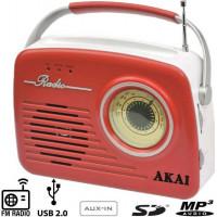 Φορητό ραδιόφωνο AKAI APR-11R RETRO ΑΝΑΛΟΓΙΚΟ