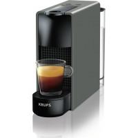 Καφετιέρα Nespresso KRUPS XN110BS Essenza Mini Grey + Δώρο 12 κάψουλες + Δώρο κουπόνι αξίας 30 ευρώ για κάψουλες
