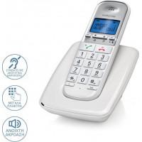 Ασύρματo Τηλέφωνo MOTOROLA S3001A DECT White