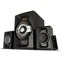 POWERTECH Ηχεία 2.1ch Bluetooth, 60W RMS, AUX/FM Με Τηλεχειριστήριο PT-746