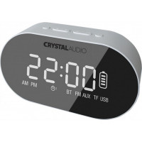 Ράδιο-Ρολόι CRYSTAL AUDIO BTC1W BT White